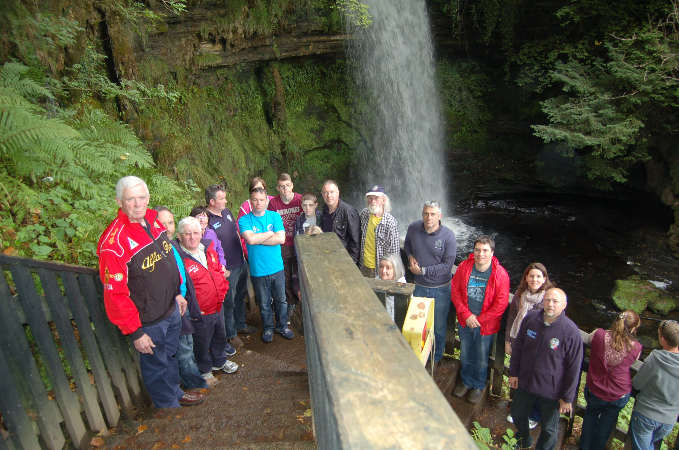 Group at Glencar Waterfall